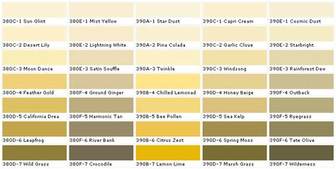 behr exterior paint color palette behr paints chip color swatch sle and palette nanopics