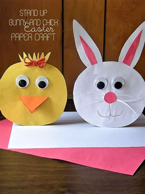 easter paper craft ideas stand up bunny and easter paper craft crafts back