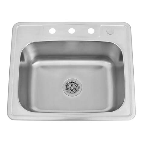 25 quot infinite rectangular stainless steel drop in sink