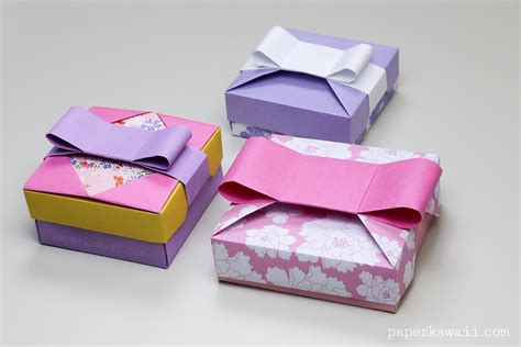 origami gift boxes origami gift box mix match lids paper kawaii