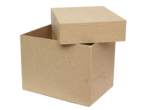 craft paper boxes paper mache rectangle box by craft pedlars 12 boxes