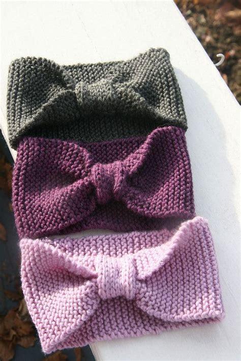 knitted headband with bow bow knit headband