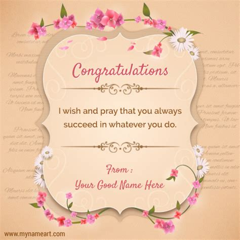 how to make a congratulations card congratulations quotes sayings with your name create