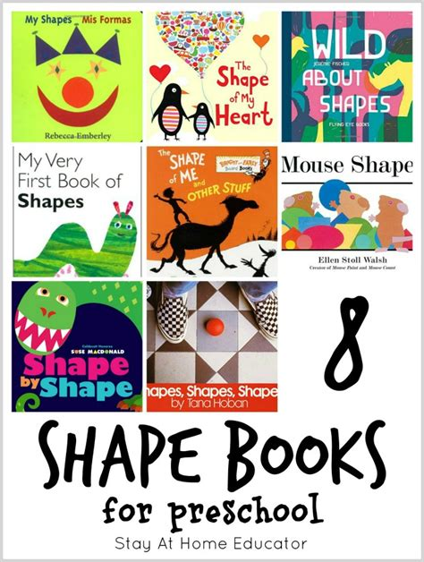 teaching with picture books 8 shape books for preschool plus 64 other math picture