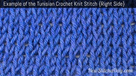 crochet knit stitch how to tunisian crochet the knit stitch tunisian