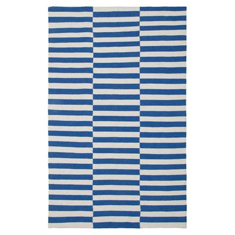 blue and white stripe rug intriguing interiors pinterest