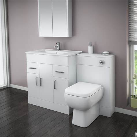 Images Of Bathroom Suites by Turin High Gloss White Vanity Unit Bathroom Suite W1300 X