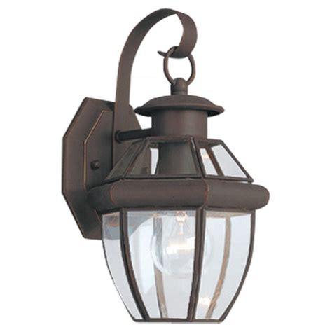 home depot lighting fixture sea gull lighting lancaster 1 light antique bronze outdoor