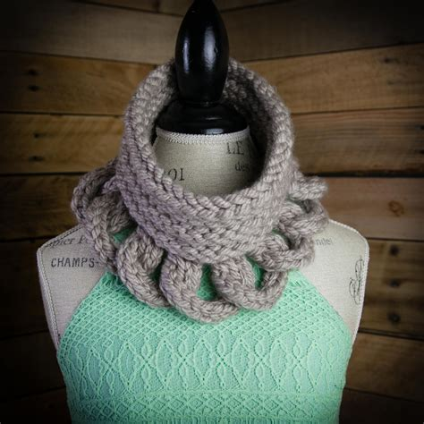 knitting loom cowl loom knit cowl pattern structural high fashion cowl