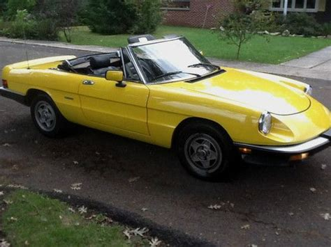 Alfa Romeo United States by Purchase Used Yellow Alfa Spider In Beckley West Virginia