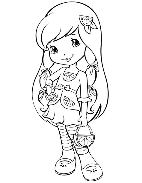 42 strawberry shortcake coloring pages for free
