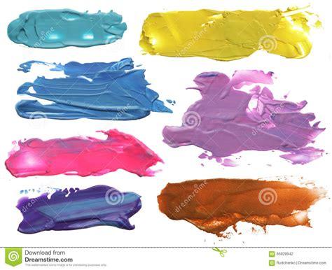 acrylic painting no brush strokes abstract acrylic brush strokes blots stock photo image