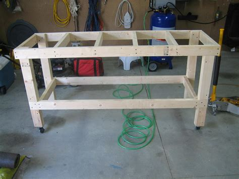 how to build a woodworking workbench eaa workbench completed andrew s rv 7 build log