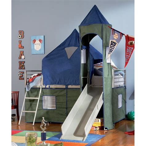 boy bunk bed with slide boys tent bunk bed with slide crew ashe