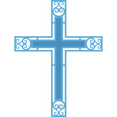 blue cross divider clipart
