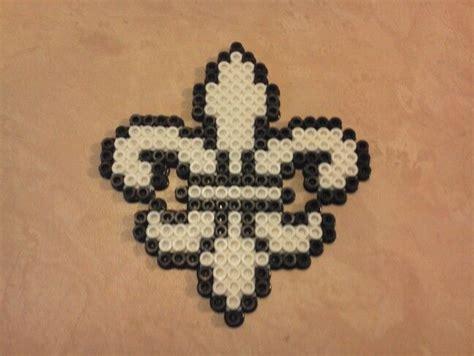 tiny perler small perler bead fleur de lis by lynzie perler