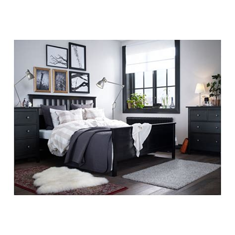 hemnes king bed frame hemnes bed frame black brown leirsund 180x200 cm ikea