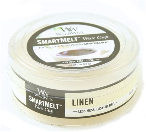 scented wax linen smartmelt scented wax cup by woodwick