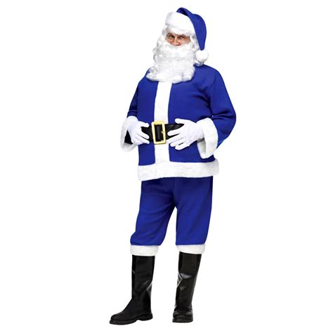 blue santa blue flannel santa suit international shop