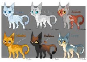 cat designs warrior cat designs batch 1 by raqemo on deviantart