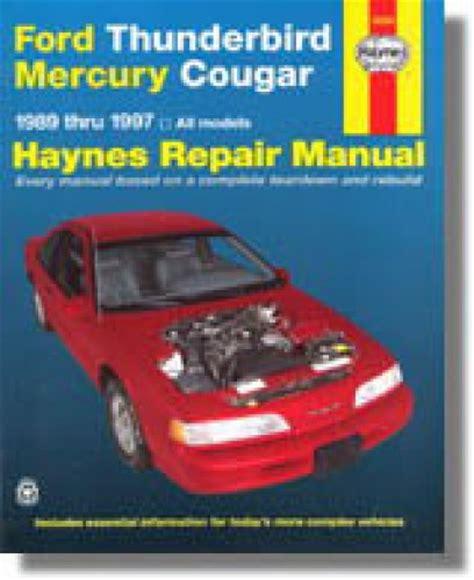 download car manuals pdf free 1989 mercury cougar navigation system 1997 ford thunderbird repair manual pdf