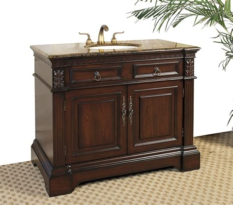 bathroom vanity marble 42 inch marble top bathroom vanity cherry in bathroom