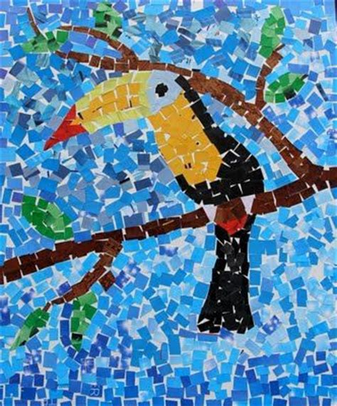 mosaic craft projects for everyone paper mosaic toucan projects to try