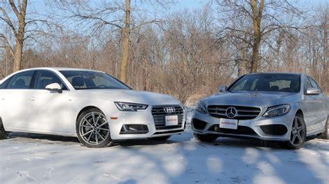 Mercedes Vs Mercedes by 2017 Audi A4 Vs 2017 Mercedes C300 Autoguide