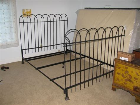 antique wrought iron bed frame antique iron bed frame antique hairpin wrought iron fence