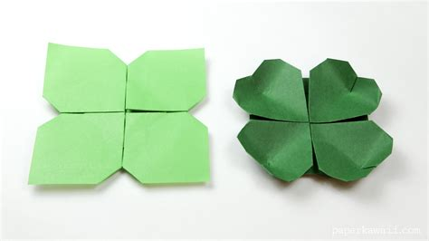 the origami origami clover flower paper kawaii