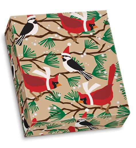 craft paper wrapping snowbirds kraft gift wrap wrapping paper