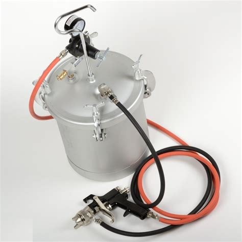 spray painting units high pressure pot air paint spray gun 2 1 4 gallon
