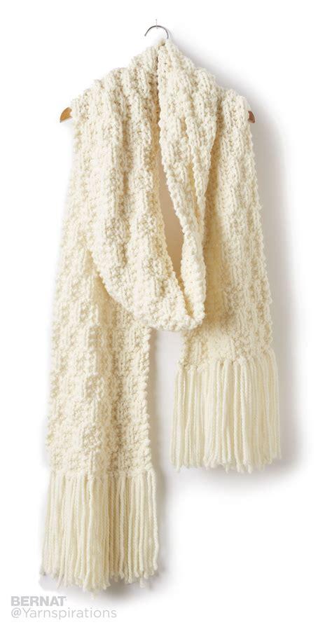 checking knitting bernat rib check knit scarf knit pattern