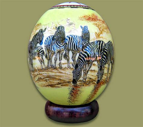 decoupage ostrich eggs ostrich egg decoupage zebra 1