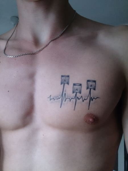 ekg heart tattoo car interior design