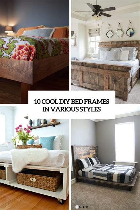cool bed frames 10 cool diy bed frames in various styles shelterness