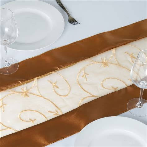 gold organza table runner tablecloths chair covers table cloths linens runners