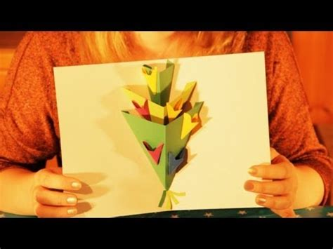 how to make a pop up greeting card how to make a pop up flowers greeting card happy