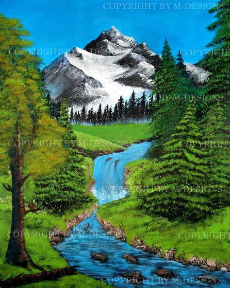 bob ross painting rivers mountain river tribute to bob ross by celki on deviantart