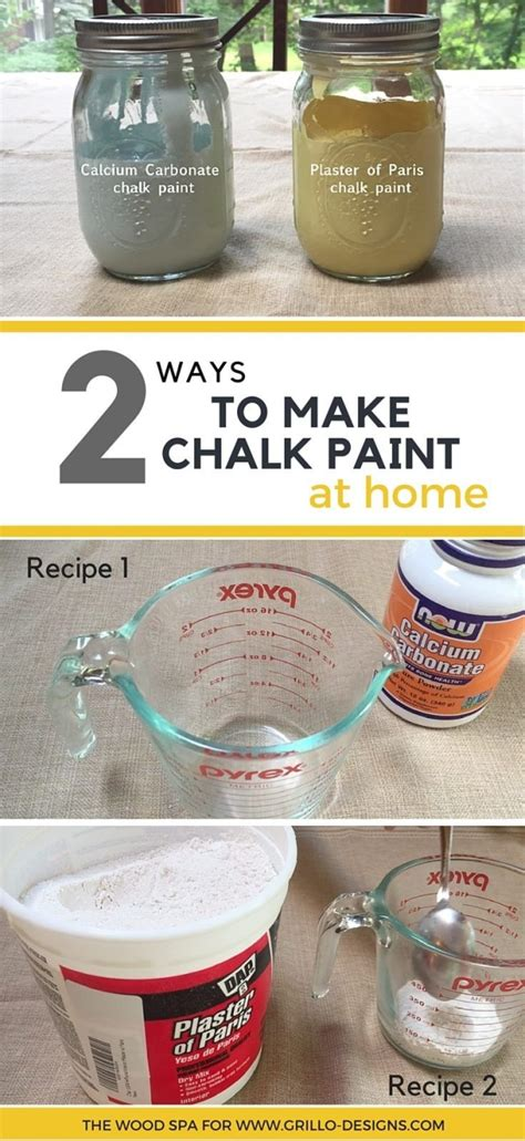 diy chalk paint recipe calcium carbonate from the wood spa shares 2 ways to make