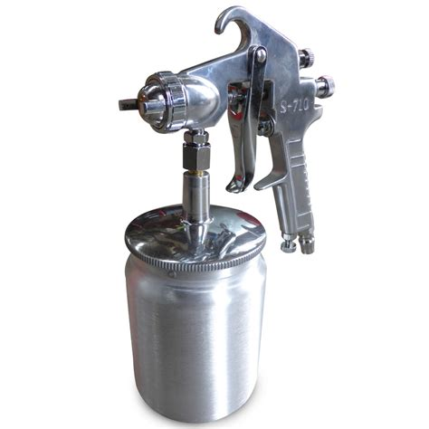 spray painting using a compressor suction feed heavy duty paint spray gun 600ml 1 4 quot air