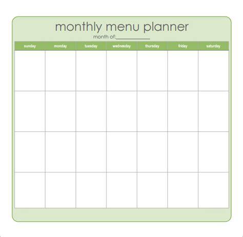 monthly menu planner template excel calendar template 2016