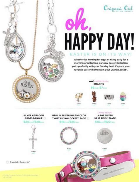 origami owl collection origami owl easter 2016 collection origami owl