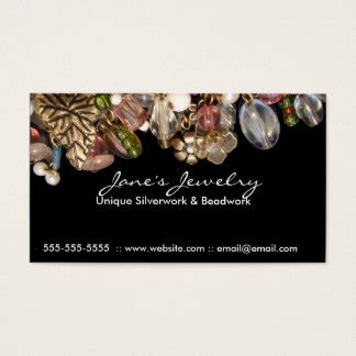 business cards for jewelry jewellery business cards templates zazzle