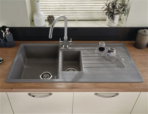 gray kitchen sink lamona grey granite composite 1 5 bowl sink kitchen