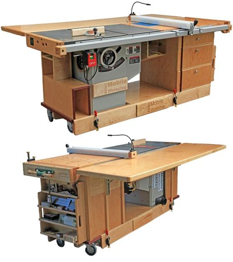 portable woodworking shop best 25 table saw station ideas on