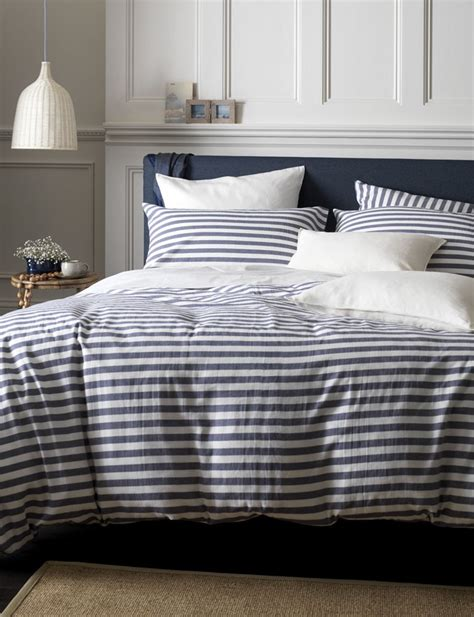 navy bedding nautical navy stripe bedding buy at secret linen