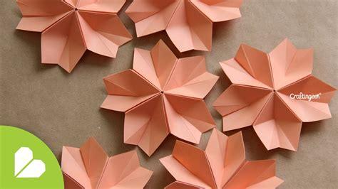 flor origami modular decorativa flor de papiroflexia how to