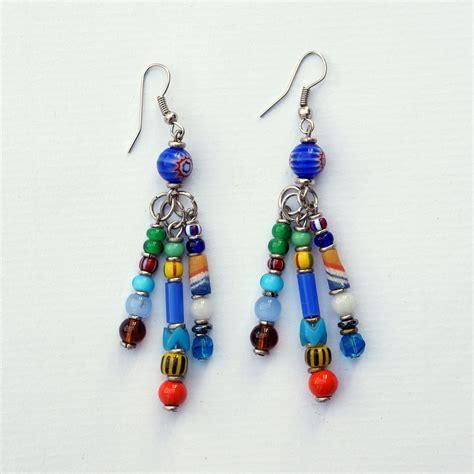 how to make glass bead earrings jewellery assorted glass bead earrings
