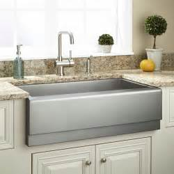 farm house kitchen sinks 33 quot executive zero radius stainless steel farmhouse sink